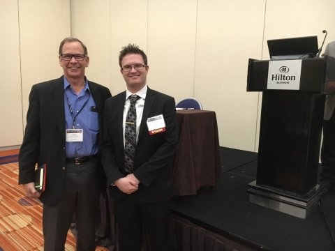 Doug Mattscheck, CEO and award-recipient Dr. Andrew Shinko, R&D Chemist of ICP Adhesives & Sealants (Photo: Business Wire)