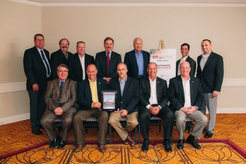 Fluor and Dominion execs are all smiles as they celebrate the Brunswick County Power Station being n ...