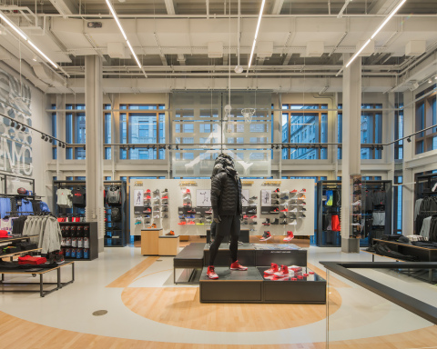Nike Soho features a wide variety of Nike Basketball and Jordan Brand products on the store's fifth floor. (Photo: Business Wire)