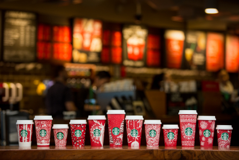 For the first time, Starbucks holiday red cups will feature designs created by customers with 13 dis ...