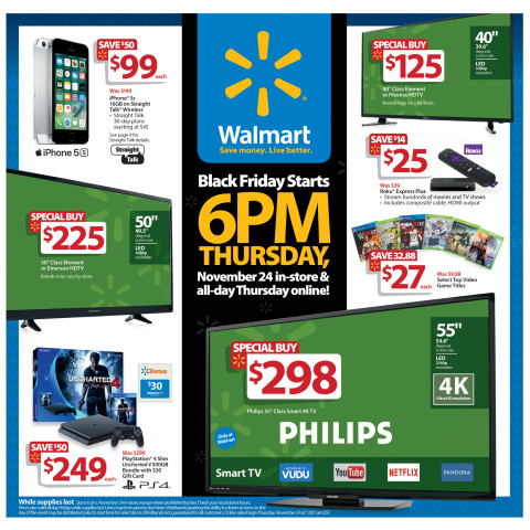 Walmart's Black Friday circular is available starting today through the Walmart app. (Photo: Business Wire)