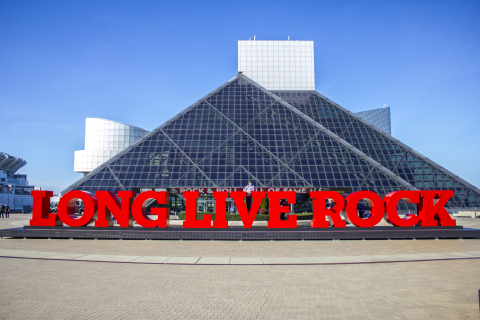 "The ""LONG LIVE ROCK"" letters were one of the enhancements unveiled at the Rock & Roll Hall of Fame today. (Photo: Business Wire)"