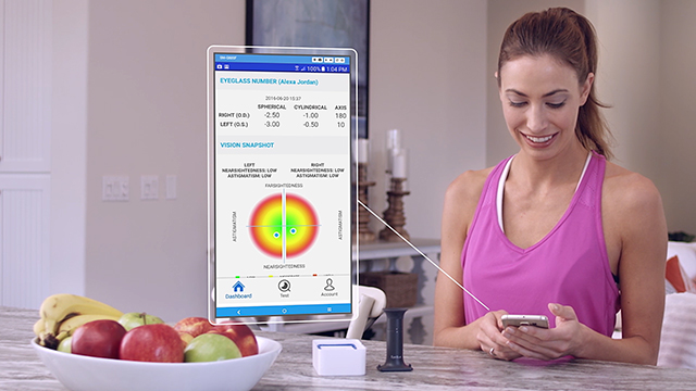 See how the EyeQue Personal Vision Tracker works