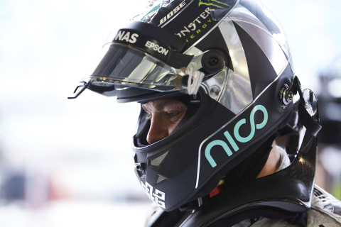 Jens Munser works with MERCEDES AMG PETRONAS Formula One(TM) driver Nico Rosberg to design his helme ...