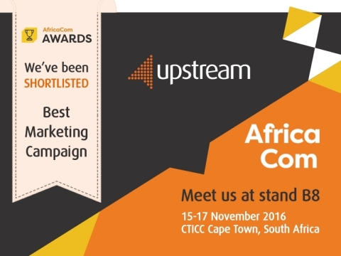 Upstream shortlisted for prestigious AfricaCom Awards in Best Marketing Campaign category (Photo: Business Wire)