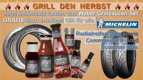 Aktion Grill den Herbst! – mit MICHELIN, MotorradreifenDirekt.de und Lebensmittel.de