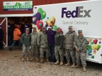 Since the Trees for Troops program launched in 2005, FedEx has shipped more than 176,000 real Christmas trees to service members and their families—covering every branch of the military at close to 65 bases in 17 countries. (Photo: Business wire)