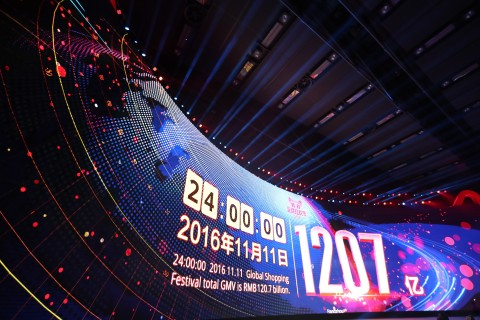 Alibaba Group's 11.11 Global Shopping Festival 2016 (Photo: Business Wire)