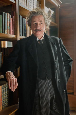Geoffrey Rush as Albert Einstein in National Geographic's 'Genius'. (photo credit: National Geographic/Dusan Martincek)