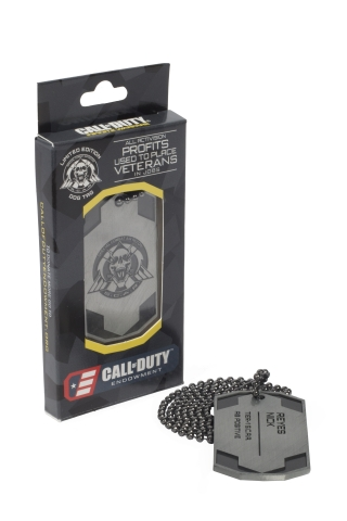 Costco's limited edition dog tags are packaged with Call of Duty: Infinite Warfare Legacy Edition (P ...
