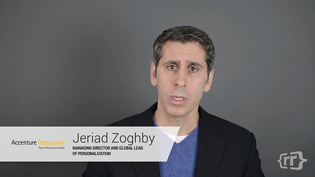 Watch Jeriad Zoghby, global personalization lead at Accenture Interactive, discuss market trends and how Accenture defines personalization on RelevanceTV