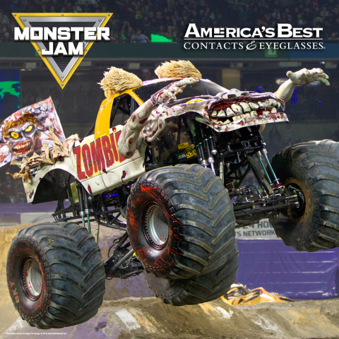 America's Best Contacts & Eyeglasses Named Official National Partner of Monster Jam® (Photo: Business Wire)