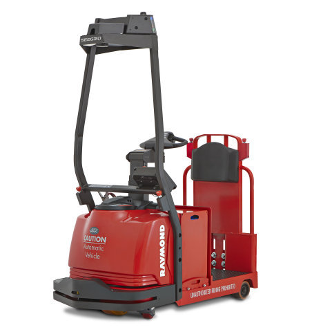 The Raymond Corporation, in collaboration with Seegrid Corporation, introduces the Raymond Courier™ 3020 tow tractor automated lift truck (Photo: Business Wire)