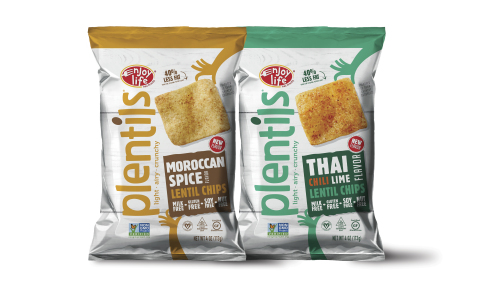 Enjoy Life Foods Spices Up Popular Plentils® Line with Exotic New Flavors: Thai Chili Lime and Moroccan Spice (Photo: Business Wire)
