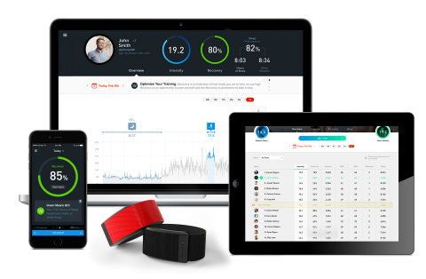 WHOOP web dashboard and mobile app (Photo: Business Wire)