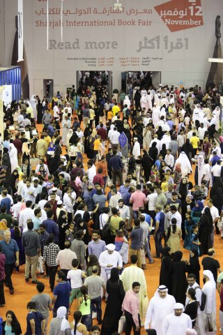 Visitors during the 35th Sharjah International Book Fair 2016 (Photo: Business Wire)