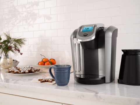 Keurig® K575 Brewing System has been honored with the 2016 Best of Year Award by Reviewed.com as the best overall pod coffee brewer. The brewer is available on Keurig.com as well as at major retailers throughout the country for a suggested retail price of $179.99. (Photo: Business Wire)