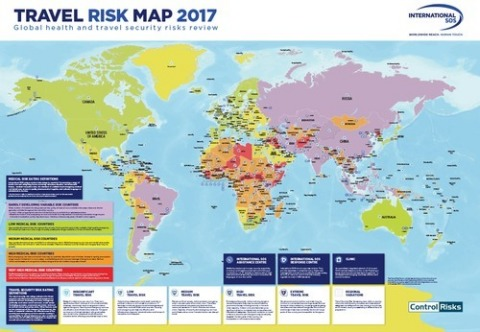 Travel Risk Map 2017 (Graphic: Business Wire)