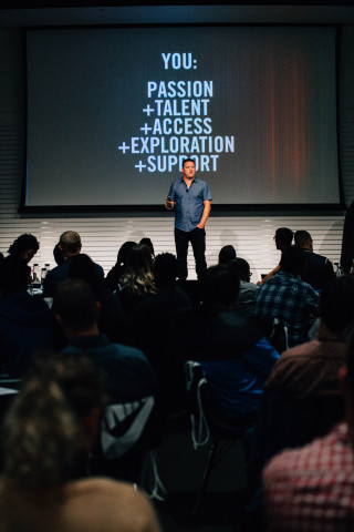 Ken Black, NIKE, Inc. Vice President of Digital Design Transformation, addresses the Future You education workshop at Nike's World Headquarters. (Photo: Business Wire)