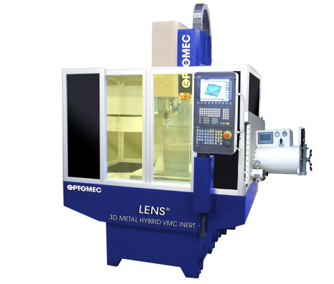 The LENS Machine Tool Series integrates Optomec's industry-proven, metal 3D printing technology into standard CNC machine tool platforms, providing lower-cost, higher-value metal additive manufacturing and hybrid solutions. (Photo: Optomec, Inc.)