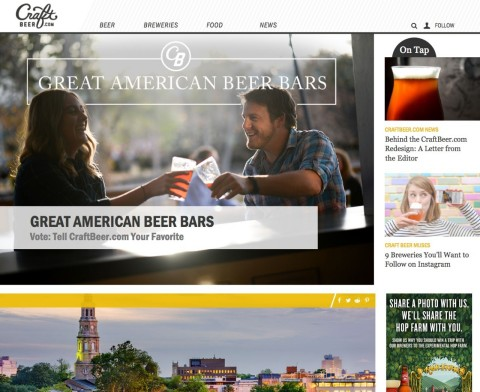 CraftBeer.com, the beer lover website published by the Brewers Association, today revealed a striking redesign to enhance the experience for its growing audience. (Photo: Business Wire)