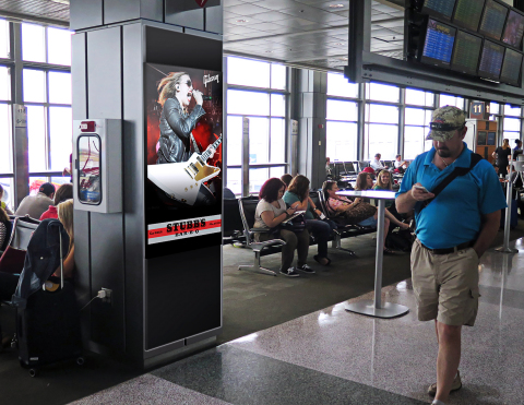 Among other digital media assets, Clear Channel Airports is introducing new high resolution screens in passenger gate areas at Austin-Bergstrom International. (Photo: Business Wire)