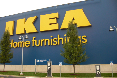IKEA announced plans to install three Blink® electric vehicle (EV) charging stations at its future M ...