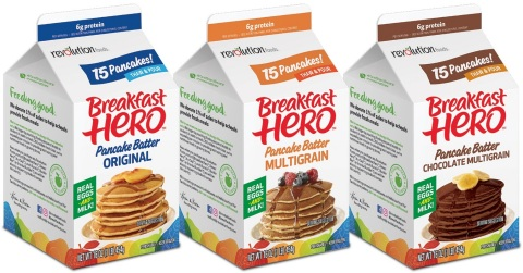 Breakfast Hero is available in three family-friendly flavors including Original, Multigrain and Chocolate Multigrain (Photo: Business Wire)