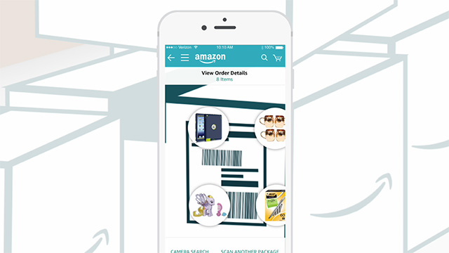 Starting today, customers with an iPhone can use the free Amazon shopping app and try Package X-Ray to see what's in a box that's been delivered, without having to hide unwrapped presents around the house.