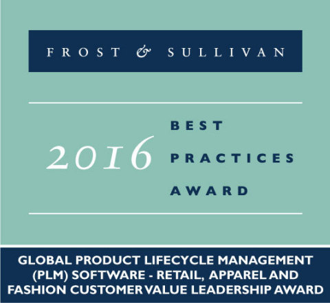 Frost & Sullivan recognizes Centric Software with the 2016 Global Customer Value Leadership Award. (Graphic: Business Wire)