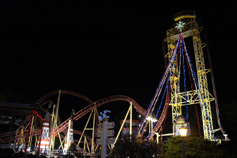 More than 20 holiday rides along with nine thrilling world-class roller coasters await guests, as pa ...