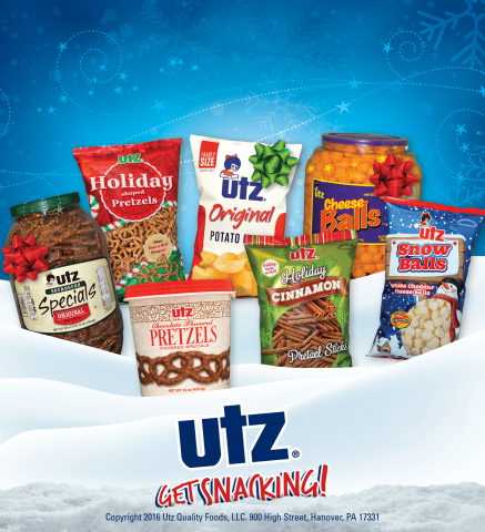 Utz® Quality Foods,LLC brings back its holiday snack line and kicks off the Nice List Giveaway promotion. (Photo: Business Wire)
