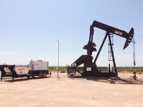 Aggreko Power Automation package on a single rod pump application in the Permian Basin. (Photo: Business Wire)