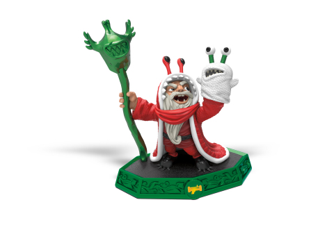 Jingle Bell Chompy Mage, this year's special holiday-themed Skylanders® Imaginators Sensei toy, ready to teach the Skylanders some new fighting techniques and a classic Chompy holiday tradition – the White Chompy gift exchange! The fun-loving character will be available at participating retailers starting November 25, 2016. (Photo: Business Wire)