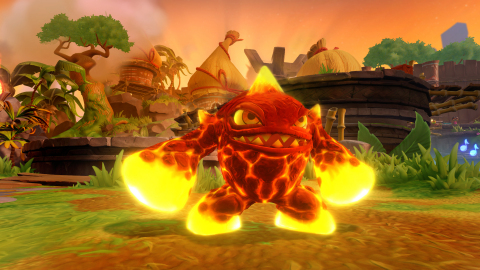 Fan favorite Skylander Eruptor is busy this holiday season; he is playable in the Skylanders Imaginators game, featured in the new Skylanders™ Academy TV series from Netflix, and will soar over New York City in the seminal Macy's Thanksgiving Day Parade. (Graphic: Business Wire)