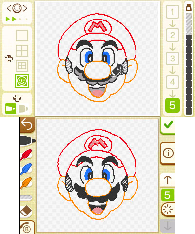 The Swapdoodle game is an easy way to write messages, draw 3D pictures and share them with your Nintendo 3DS friends. (Graphic: Business Wire)