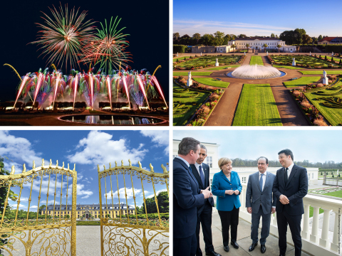 The world meets at Herrenhausen: The International Firework Competition takes place at Herrenhausen Gardens with the castle where in 2016 Angela Merkel welcomed Barack Obama, David Cameron, François Hollande and Matteo Renzi. (picture: HMTG / Bundesregierung / Bergmann)