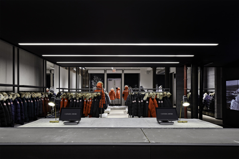 Canada Goose's first-ever U.S. store, and U.S. flagship store, which opened at 101 Wooster Street in New York City on November 17th. (Photo: Business Wire)