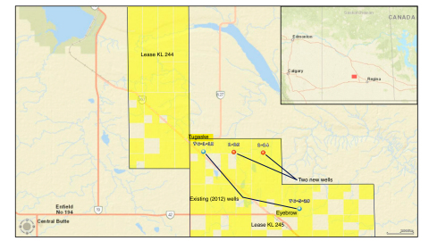 FIGURE 1 – Map Showing New and Historical (2012) Drilling (Graphic: Business Wire)