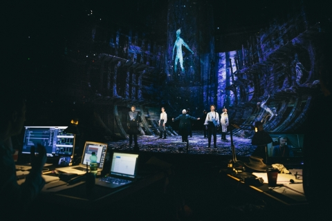 """Intel, the Royal Shakespeare Company and the Imaginarium Studios collaborate on a ground-breaking production of Shakespeare's """"The Tempest,"""" incorporating the most cutting-edge technology. Rendering a digital character in-real time format eliminates the need to produce it in advance and project it on stage, enhancing the spontaneous atmosphere of a live performance. (Credit: Intel Corporation)"""