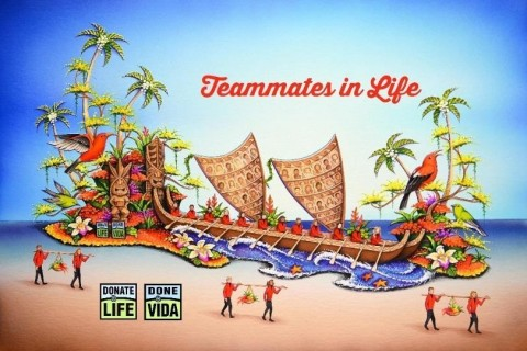 Donate Life Float rendering, Rose Parade® 2017 (Graphic: Business Wire)
