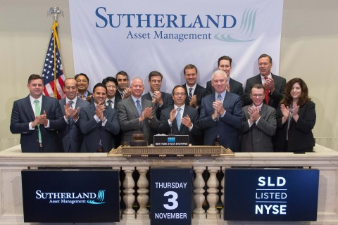 Sutherland Asset Management (NYSE: SLD) rings The NYSE Opening Bell (Photo: Business Wire)