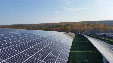 NRG Energy Inc.'s newest community solar farm is the largest co-located community solar site in Massachusetts. (Photo: Business Wire)