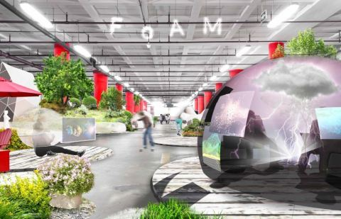 The runner-up's FoAM design, geared toward the rapidly growing freelance economy suggests the use of easily deployable inflatables. (Photo: Business Wire)