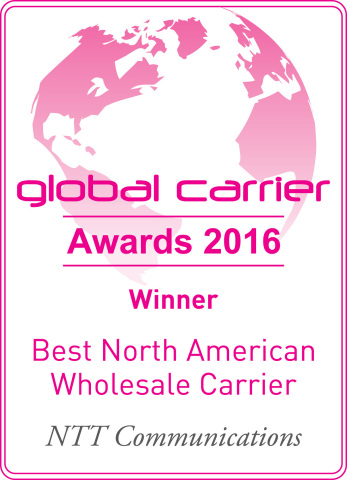 Best North American Wholesale Carrier Award 2016. (Graphic: Business Wire)