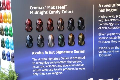 Axalta launched its latest Artist Signature Series of custom refinish colors at the SEMA tradeshow i ...