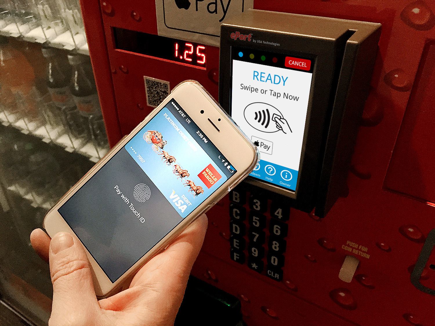 Displays and call-to-action messages can act as an electronic gateway for consumers to learn about and use the mobile wallets already installed on their phones (Photo: Business Wire)