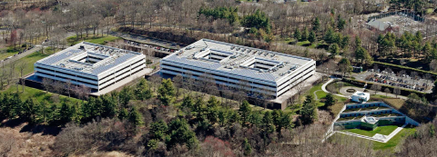 An aerial view of GE's former global headquarters in Fairfield, Conn. (Photo: Business Wire)
