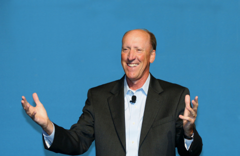 Bob Bloom, Chief Financial Officer of Heifer International, speaks at the Gartner Symposium/ITxpo on how Laserfiche enables technology transformation and Heifer's mission to fight hunger and poverty. (Photo: Business Wire).