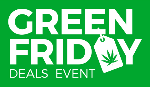 """Black Friday is no longer just for electronics; Leafbuyer Assembles Exclusive Black Friday Marijuana Deals in Inaugural """"Green Friday"""" Promotion. (Graphic: Business Wire)"""